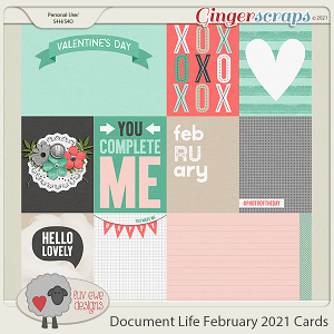 Document Life February 2021 Journal Cards by Luv Ewe Designs