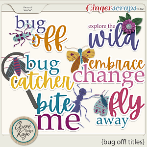 Bug Off Titles by Chere Kaye Designs