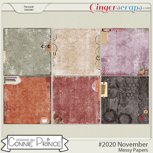 #2020 November - Messy Papers by Connie Prince