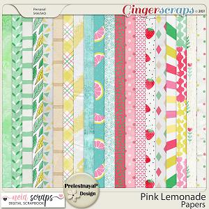 Pink Lemonade Papers by PrelestnayaP and Neia Scraps
