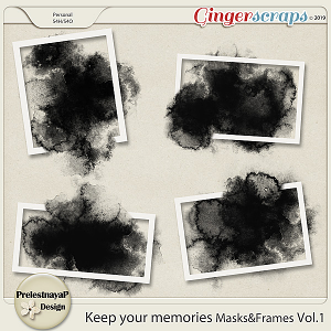 Keep your memories Masks&Frames Vol.1