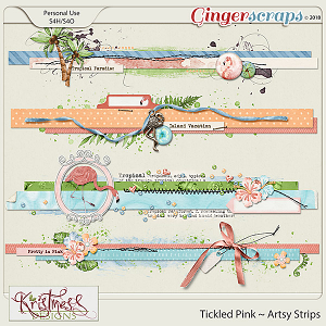 Tickled Pink Artsy Strips