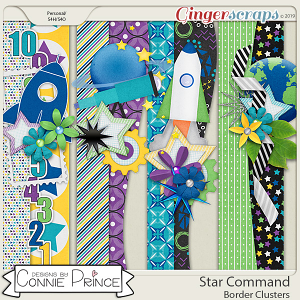Star Command - Border Clusters by Connie Prince