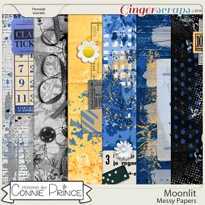 Moonlit - Messy Papers by Connie Prince