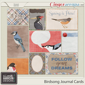 Birdsong Journal Cards by Aimee Harrison