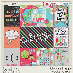 Choose Happy Pocket Cards