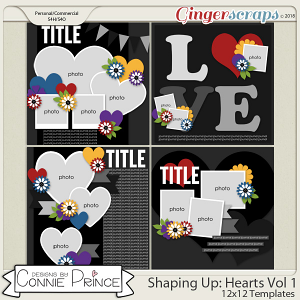 Shaping Up: Hearts Volume 1 - 12x12 Temps (CU Ok) by Connie Prince