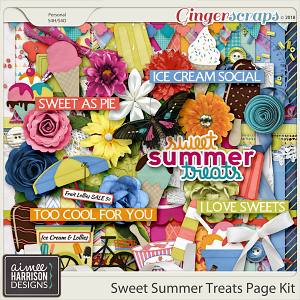 Sweet Summer Treats Page Kit by Aimee Harrison