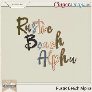 Rustic Beach Alpha by JoCee Designs