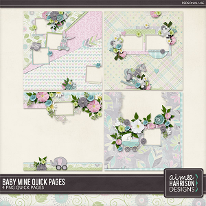 Baby Mine Quickpages by Aimee Harrison