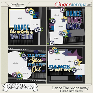 Dance The Night Away - 12x12 Templates (CU Ok)
