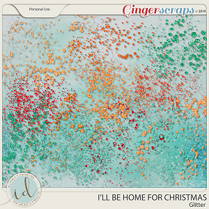 I'll Be Home For Christmas Glitter by Ilonka's Designs