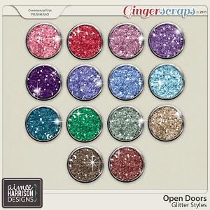 Open Doors Glitters by Aimee Harrison