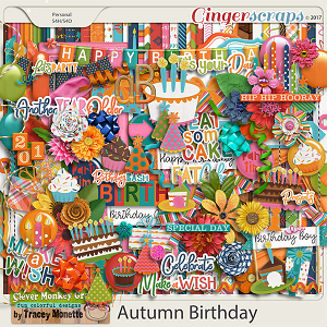Autumn Birthday by Clever Monkey Graphics