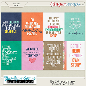 Be Extraordinary Journal Card Pack