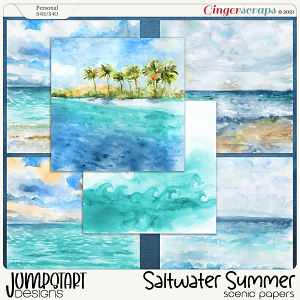 Saltwater Summer {Scenic Papers} by Jumpstart Designs