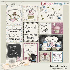 Tea With Alice Storyboard Journal Cards