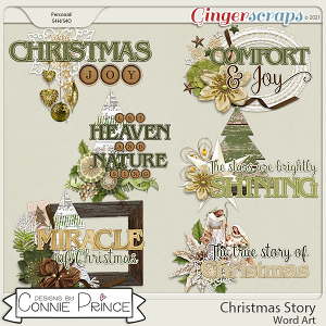 Christmas Story - Word Art Pack by Connie Prince