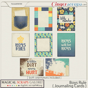 Boys Rule (journaling cards)