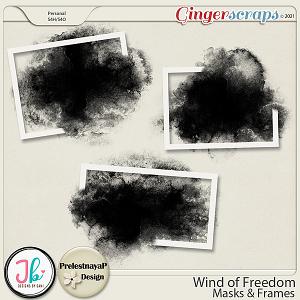 Wind of Freedom Masks & Frames by PrelestnayaP Design and JB Studio