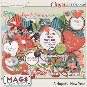 A Hopeful New Year ELEMENTS by MagsGraphics