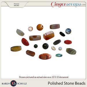 Polished Stone Beads by Karen Schulz