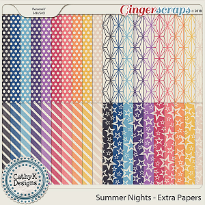 Summer Nights - Extra Papers by CathyK Designs