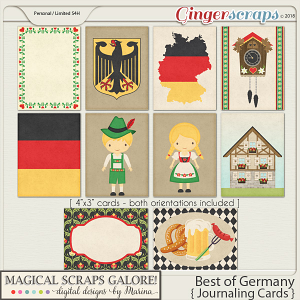 Best of Germany (journaling cards)