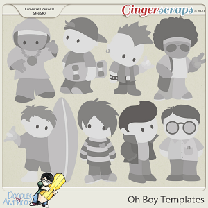 Doodles By Americo: Oh Boy Templates