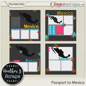 Passport to Mexico TEMPLATES by Heather Z Scraps