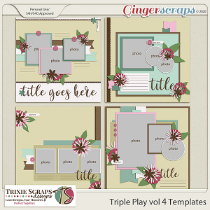 Triple Play vol 4 templates by Trixie Scraps Designs