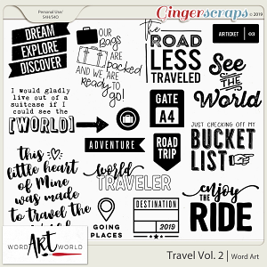 Travel Vol. 2 Word Art