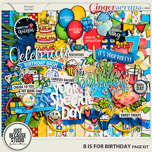 B is For Birthday Page Kit by JB Studio