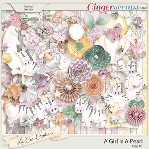 A Girl Is A Pearl Page Kit