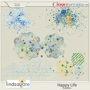 Happy Life Scatterz by Lindsay Jane