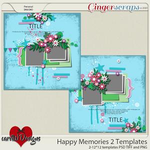Happy Memories Templates vol2 by CarolW Designs