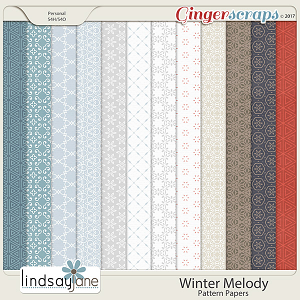 Winter Melody Pattern Papers by Lindsay Jane