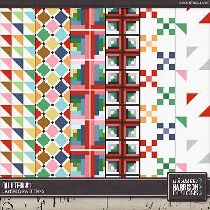Quilted #1 Layered Patterns by Aimee Harrison