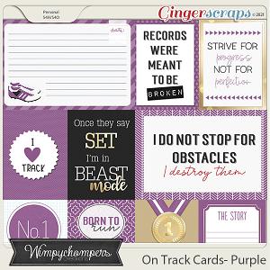 On Track- Purple Cards