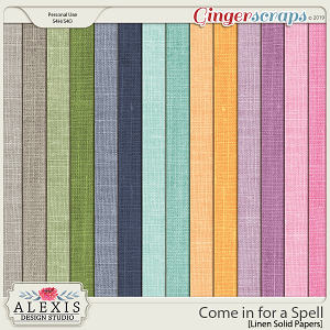 Come in for a Spell - Solid Linen Papers