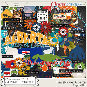Travelogue Alberta Canada - Kit by Connie Prince