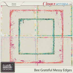 Bee Grateful Messy Edges by Aimee Harrison