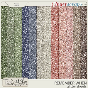 Remember When Glitter Sheets by Tami Miller Designs