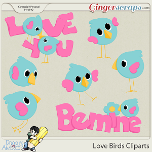 Doodles By Americo: Love Birds Cliparts
