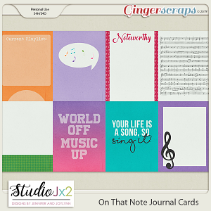 On That Note Journal Card Pack