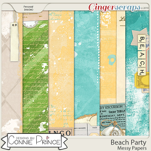 Beach Party - Messy Papers by Connie Prince