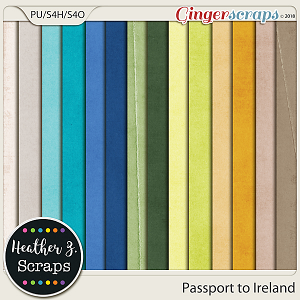 Passport to Ireland SOLID PAPERS by Heather Z Scraps