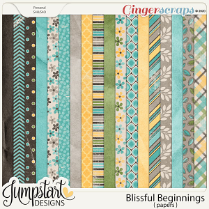 Blissful Beginnings {Papers} by Jumpstart Designs