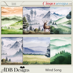 Wind Song Scenic Papers by ADB Designs