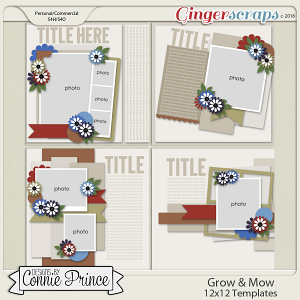 Retiring Soon -Grow & Mow - 12x12 Templates (CU Ok)